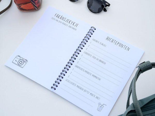 Fries vakantiedagboekje - A5 - Zwart wit - binnenkant 10 - Krúskes.nl