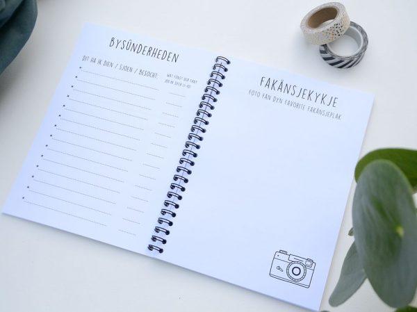 Fries vakantiedagboekje - A5 - Zwart wit - binnenkant 6 - Krúskes.nl