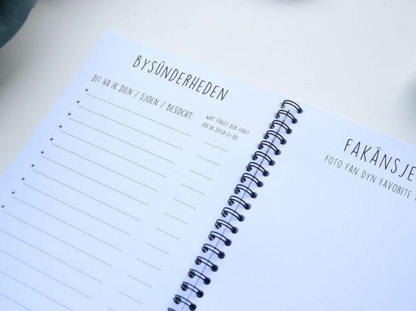 Fries vakantiedagboekje - A5 - Zwart wit - binnenkant 7 - Krúskes.nl