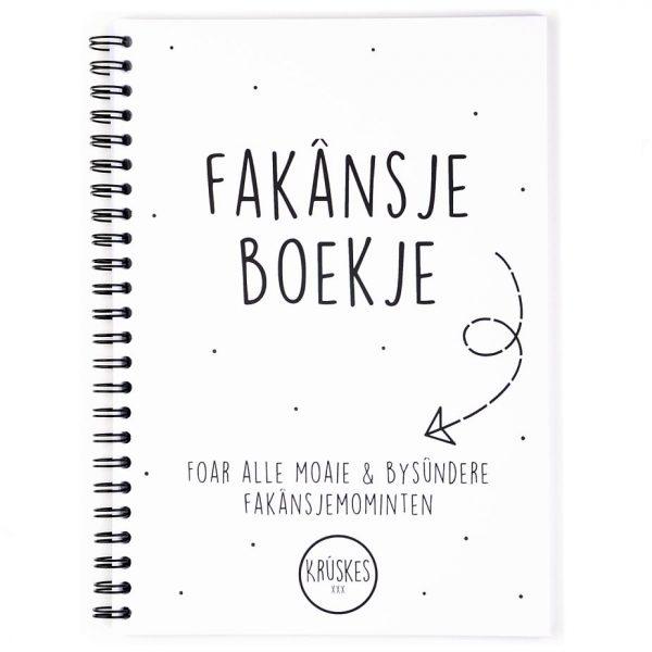 Fries vakantiedagboekje - A5 - Zwart wit - voorkant - Krúskes.nl