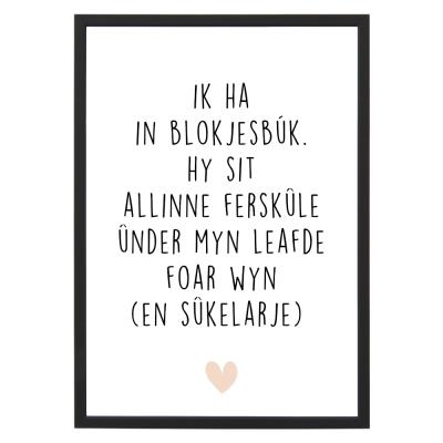 Poster - Blokjesbúk - Lijst - Krúskes