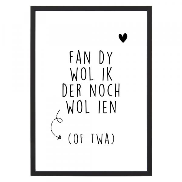 Poster - Fan dy wol ik der noch wol ien - Lijst - Krúskes