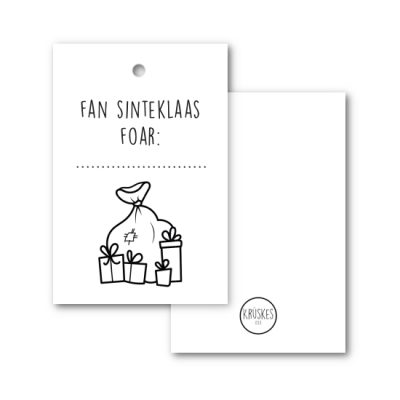 Cadeaulabel Fan Sinteklaas, foar...