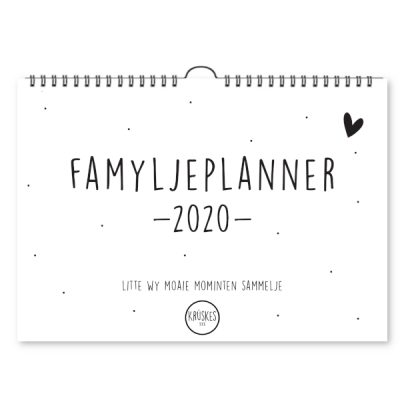 Famyljeplanner 2020 -Krúskes cover