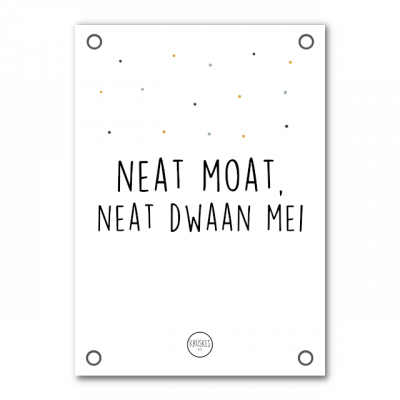 Tuinposter Neat Moat, Neat Dwaan Mei - Krúskes