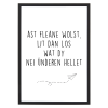 poster met lijst ast fleane wolst