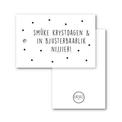 Cadeaulabel smûke krystdagen - Krúskes