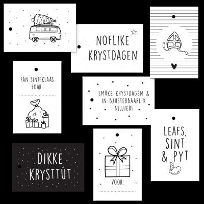 Cadeaulabelset - Feestdagen Sint & Kerst