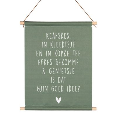 Friese Textielposter - Efkes Bekomme - kruskes (2)