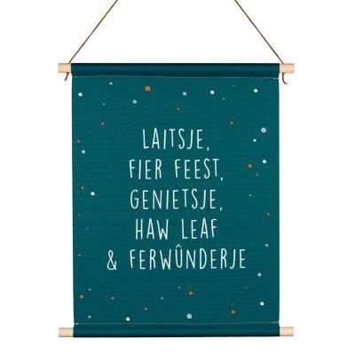 Friese Textielposter - Laitsje & Fier Feest - kruskes (4)