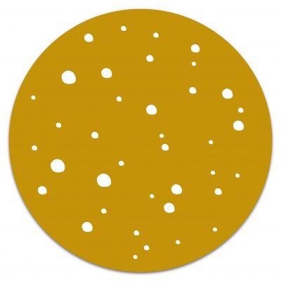 Muurcirkel Dots Okergeel 20 cm Krúskes