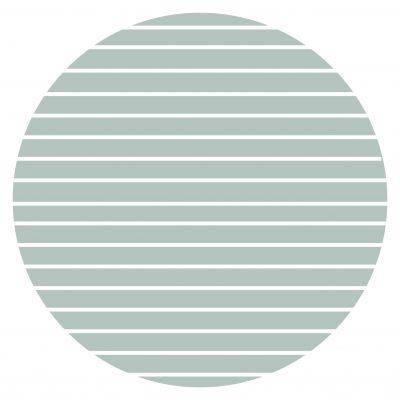 Muurcirkel Lichtblauw strepen 20 cm Krúskes