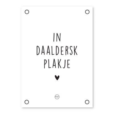 Tuinposter - In Daaldersk Plakje - Krúskes